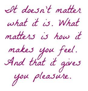Give pleasure